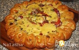 Пирог с сёмгой и сыром
