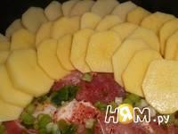 Приготовление свинины с картофелем под сыром: шаг 1
