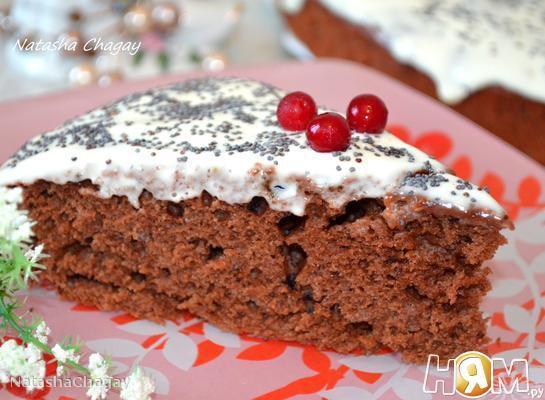 Шоколадно - кофейный пирог с кремом