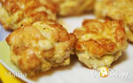 Рубленные котлеты с горчично-сырной начинкой