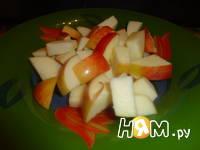 Приготовление яблок печеных с брусникой: шаг 1