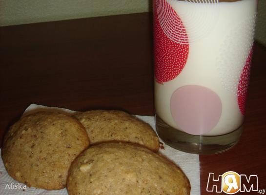 Ореховое  печенье к чаю