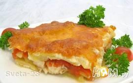 Рыба с картофелем, запеченная под майонезом