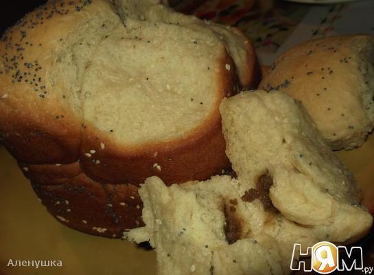 """Хлеб """" Сладкие пазлы с халвой """""""