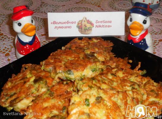 Рецепт Брюссельские оладьи с сыром и кедровыми орешками
