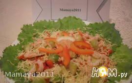 Салат с брюссельской капустой и креветками
