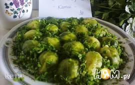 """Салат """"Изумрудный""""  с брюссельской капустой"""