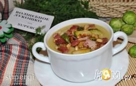 Крем-суп из брюссельской капусты с сельдереем