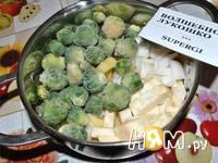 Приготовление крем-супа из брюссельской капусты: шаг 3