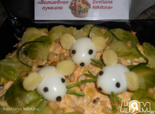Рецепт Салат с брюссельской капустой и тунцом