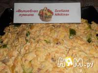 Приготовление салата с тунцом,яйцом и огурцом: шаг 7