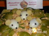 Приготовление салата с тунцом,яйцом и огурцом: шаг 10