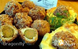Хрустящие шарики из капусты, орехов и мяса