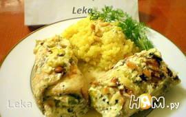 Рыбные рулеты в пикантном соусе