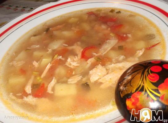 Рецепт Рыбный суп с рисом и овощами