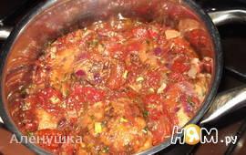 Соус для мясных блюд.С вялеными помидорами