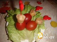 Приготовление закуски помидоры с сыром: шаг 3
