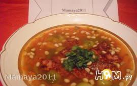 Томатный суп с брюссельской капустой и беконом