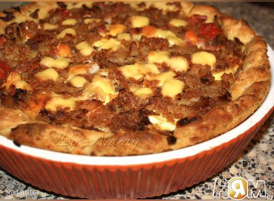 Крестьянский пирог на картофельном тесте