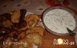 Кольраби в кляре с йогуртовым соусом
