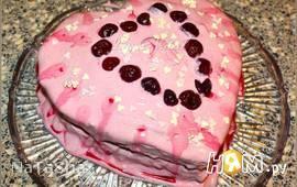 """Торт """"Розовое сердечко"""""""