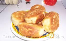 Пирожки жареные с картошкой и куриной печенкой