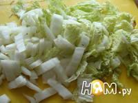 Приготовление салата из куриных потрошков: шаг 6