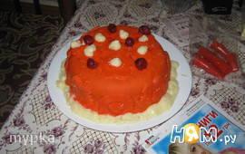 Пробный торт с мастикой