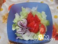 Приготовление салата с яйцами и айсбергом: шаг 4