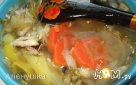 Острые щи с рыбными консервами