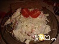 Приготовление салата из кольраби с курицей: шаг 7