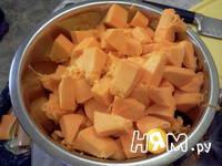 Приготовление запеканки из тыквы и яблок: шаг 1