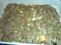 Приготовление запеканки из тыквы и яблок: шаг 3