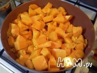 Приготовление запеканки из тыквы и яблок: шаг 5