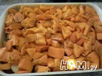 Приготовление запеканки из тыквы и яблок: шаг 8