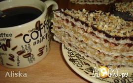 Шоколадно-лимонный вафельный торт с миндалем