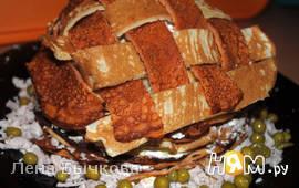 Блинный торт с курицей и индейкой