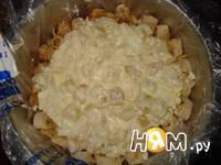 Приготовление салата Роза из блинов: шаг 4