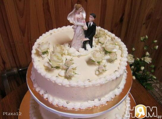 Торт белое суфле (свадебный)