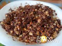 Приготовление блинов с орехами: шаг 4