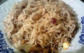 Рис с грецким орехом и апельсином