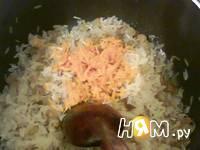 Приготовление риса с грецким орехом: шаг 4