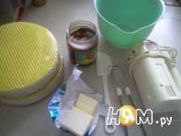 Приготовление вафельного торт со сгущенкой: шаг 1