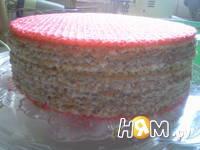Приготовление вафельного торт со сгущенкой: шаг 6