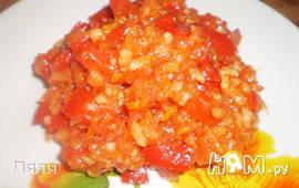 """Салат из перца с рисом """"Лечо"""""""