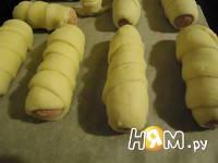 Приготовление сосисок в тесте с сыром: шаг 6