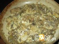 Приготовление блинного торта с грибами: шаг 1