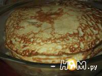 Приготовление блинного торта с грибами: шаг 7