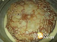 Приготовление блинного торта с грибами: шаг 8