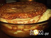 Приготовление блинного торта с грибами: шаг 9